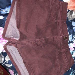 New Hollister Maroon Shorts